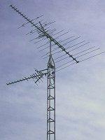 home TV antenna tower