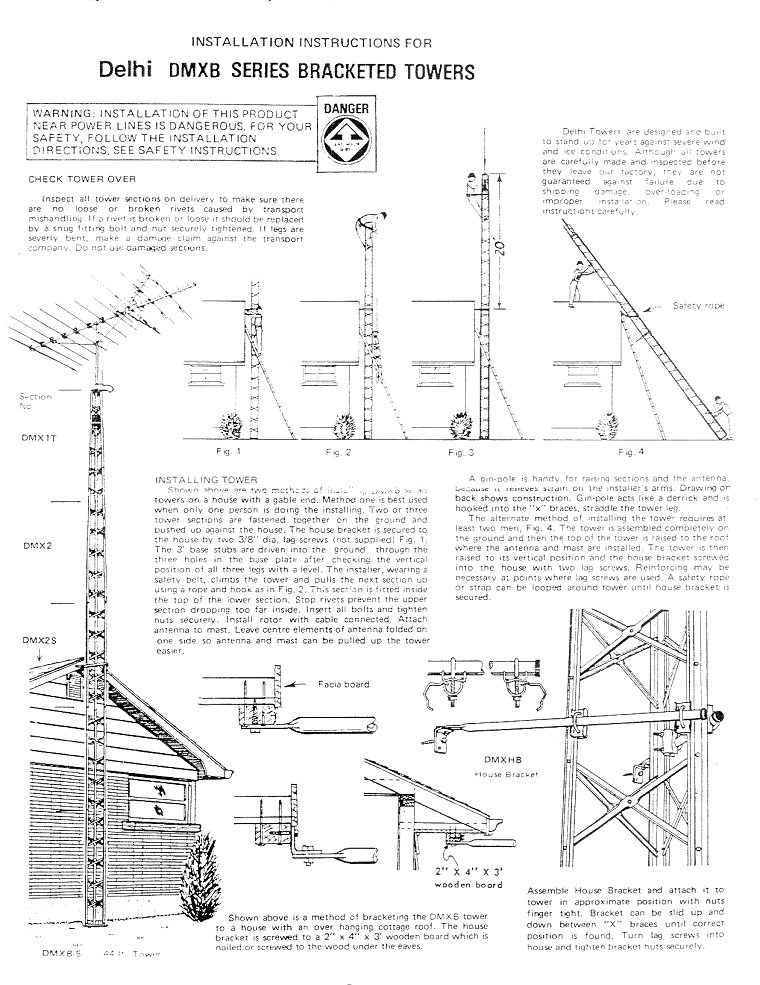 DMX-series tower installation instructions - page 1