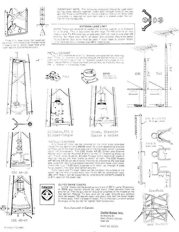 DMX-series tower installation instructions - page 2