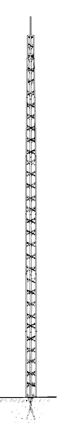 TACO Communications Bracketed TV Antenna Towers - Stallions